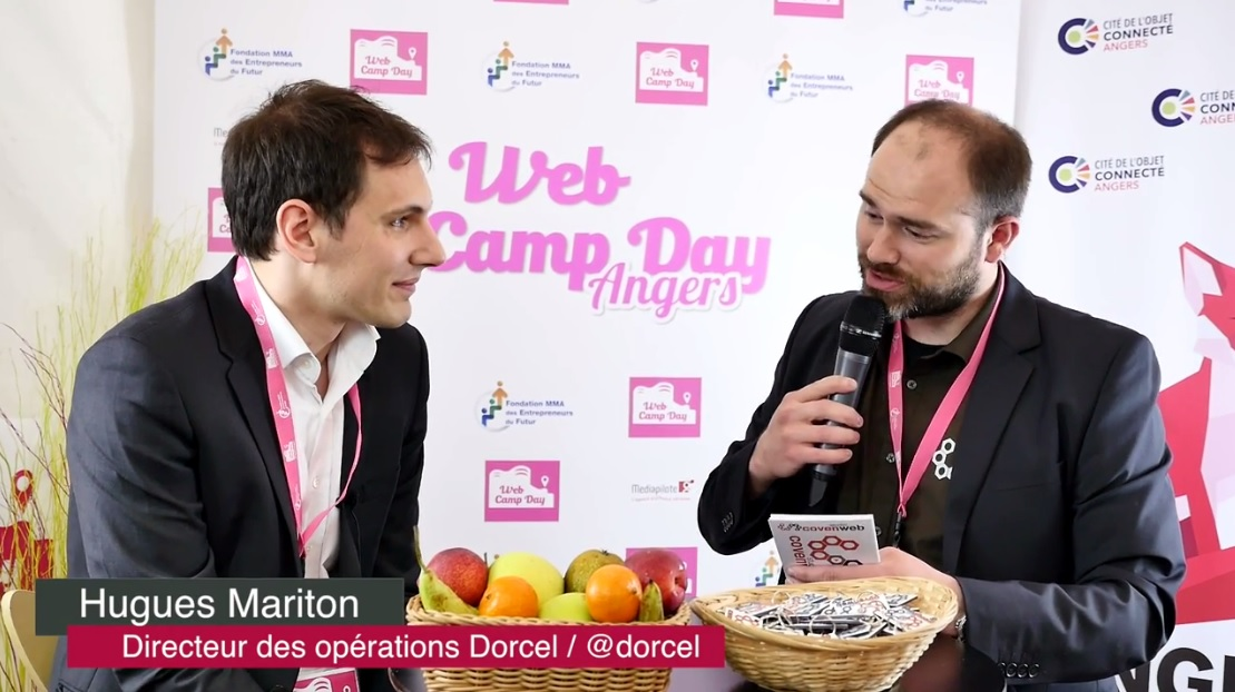 Hugues Mariton : interview lors du WebCampDay 2016