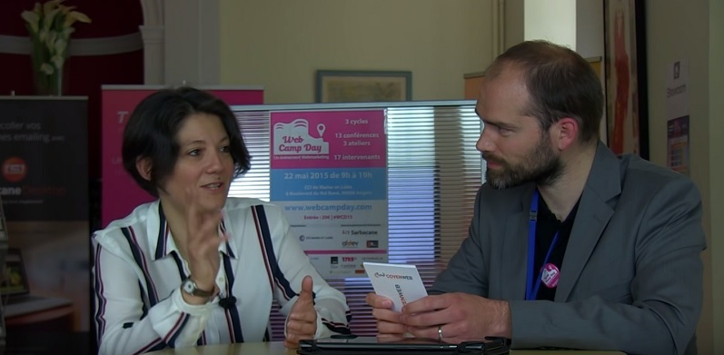 Virginie Clève lors de l'interview du WebCampDay 2015